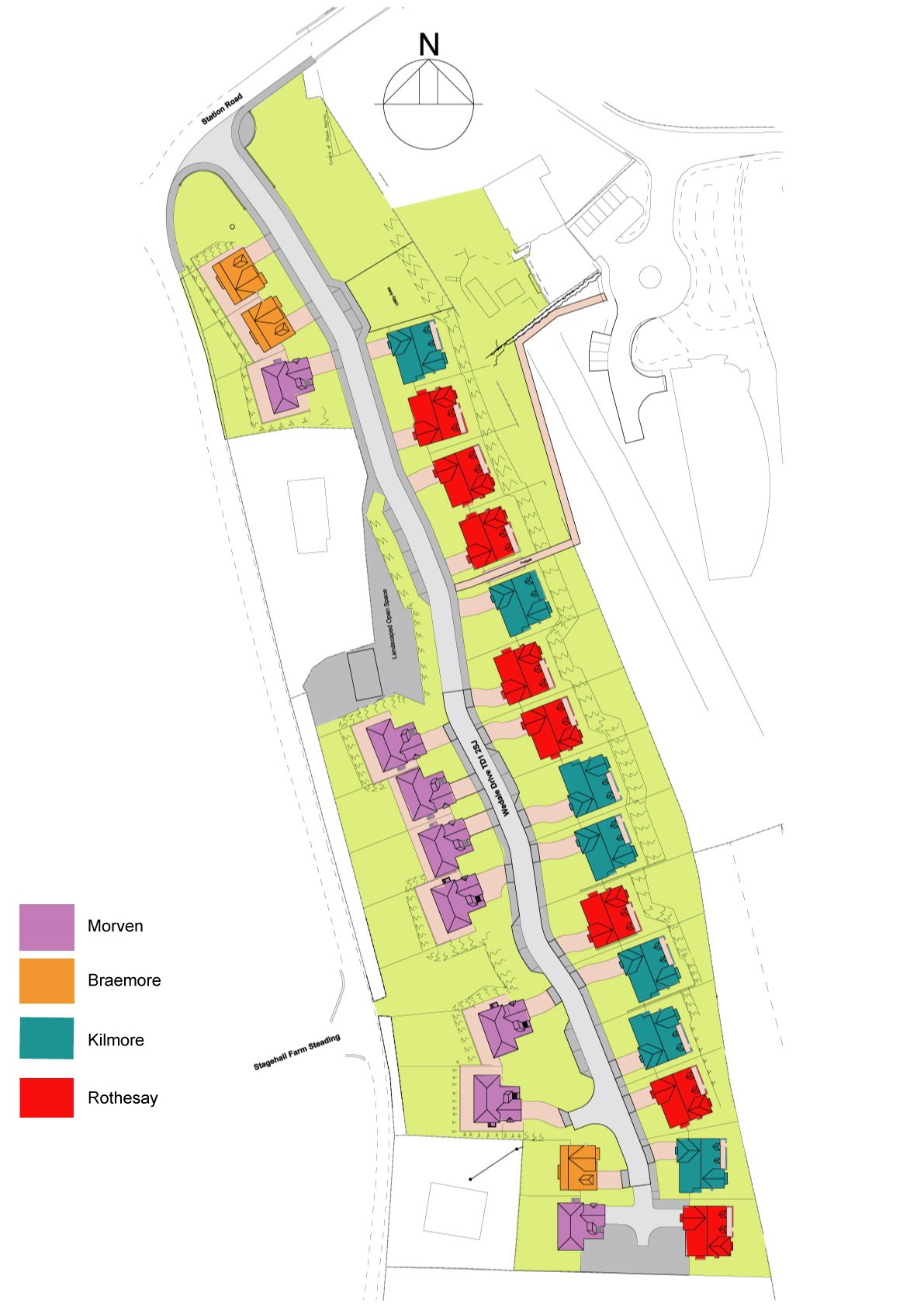 Houses for Sale in Stow - Site Layout