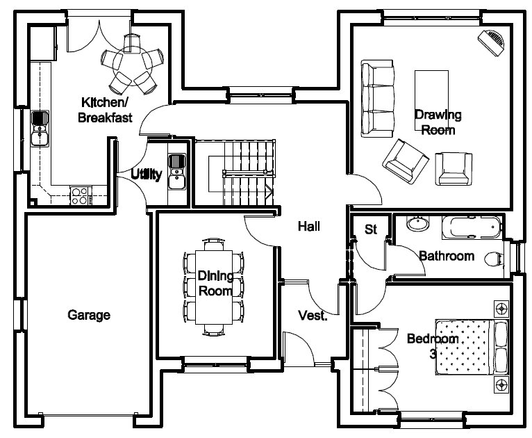Upper Floorplans & Dimensions